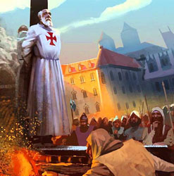 Knights Templar Burned at the Stake